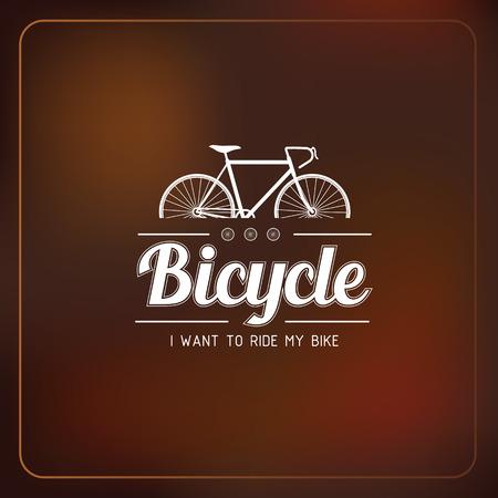 bicyclette: V�los badges logos et les �tiquettes sur flou fond, illustration vectorielle