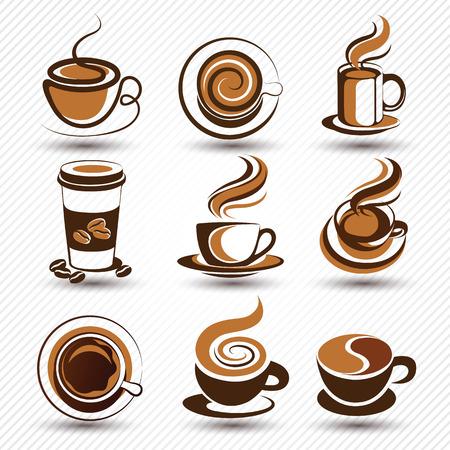 Tazza di caffè set vettore, illustrazione Archivio Fotografico - 45239396
