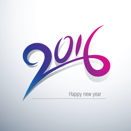 NUMBERS: Happy new year 2016 Text Design,vector illustration