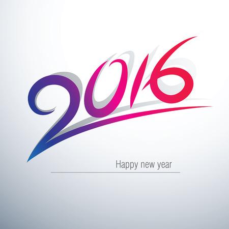 calendario: Feliz A�o Nuevo 2016 Dise�o de texto, ilustraci�n vectorial
