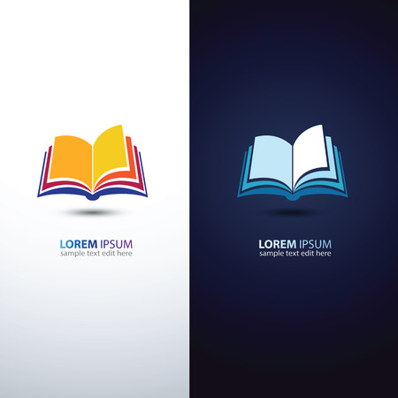 open book: colorful book icon,vector illustration