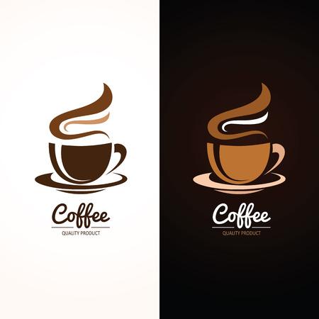 taza cafe: Icono de la taza de café, ilustración vectorial