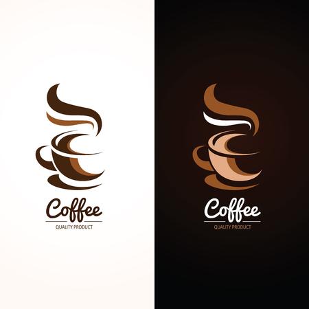 tazas de cafe: Icono de la taza de café, ilustración vectorial