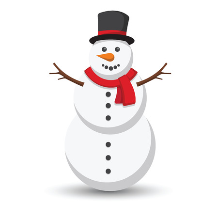 snowman isolated: Snowman vector illustration on white background