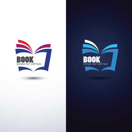 open book icon: colorful book icon,vector illustration