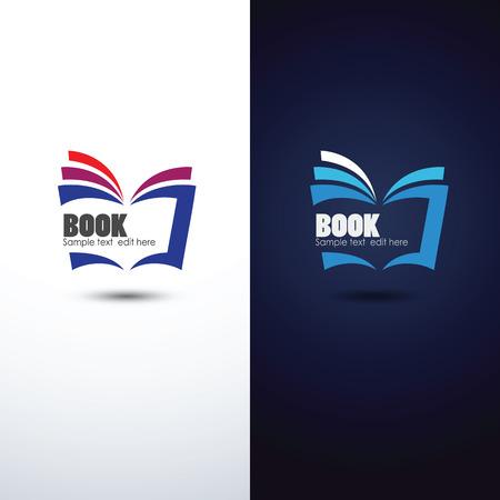 portadas de libros: colorido libro de icono, ilustración vectorial