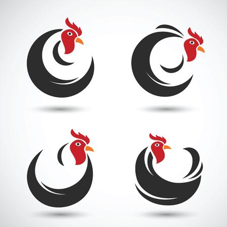 animal cock: schizzo disegnato pollo e cazzo mano su sfondo bianco, illustrazione vettoriale