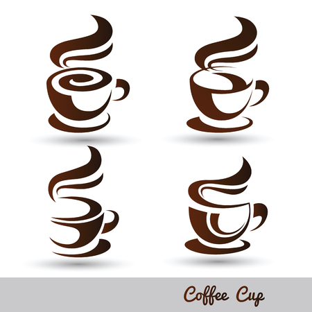 cups: coffee cup set vector,illustration