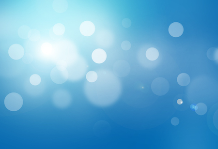 blue bokeh abstract glow light backgrounds Stock Photo