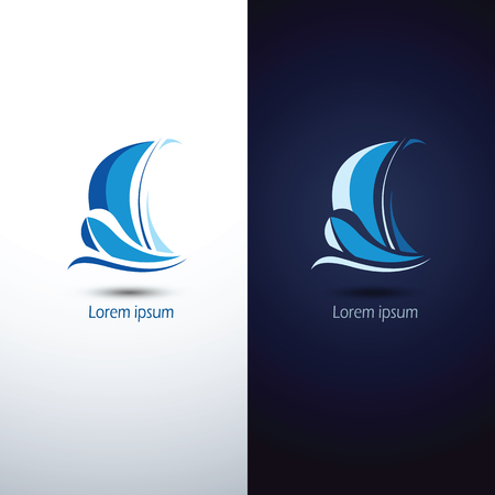 yacht: Sailing boat icon symbol ,vector illustration Illustration