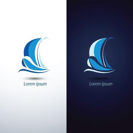 Sailing boat icon symbol ,vector illustration Illustration