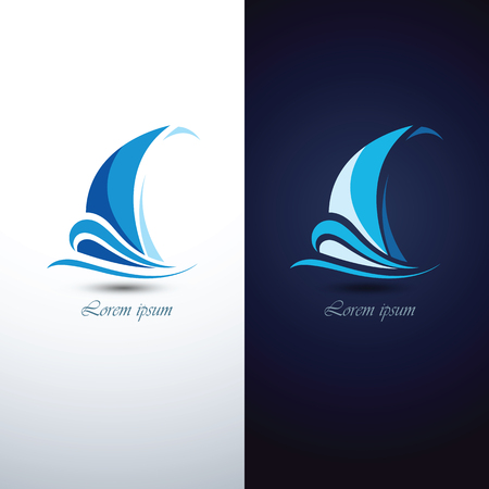 Barco de vela icono de símbolo, ilustración vectorial Ilustración de vector