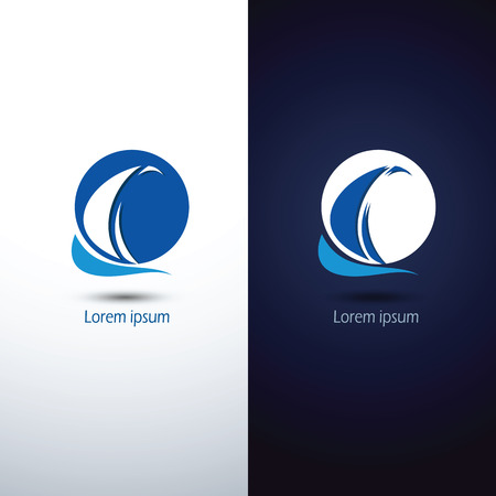 voilier ancien: Voilier icône symbole, illustration
