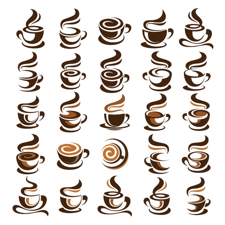 Coffee cup design icon set , vector illustration