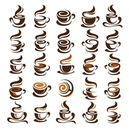 Coffee cup design icon set , vector illustration