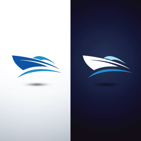 yacht: speed boat logo icon,vector illustration