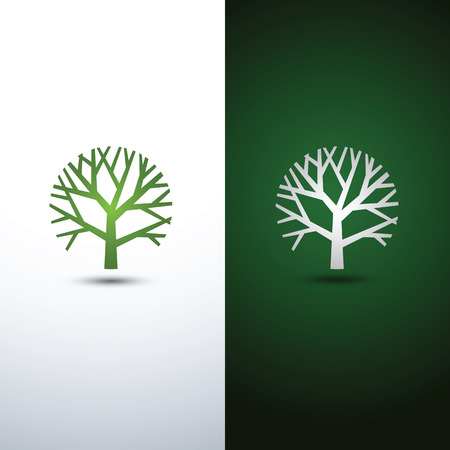 tree logo: Green Tree logo design eco concept.Vector Illustration. Illustration