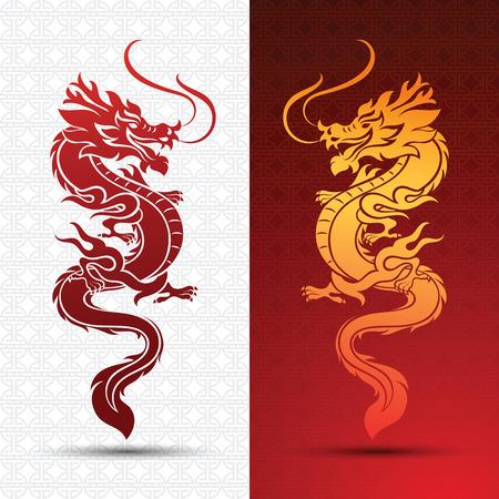 Ilustración de la tradicional chino del dragón, ilustración vectorial Foto de archivo - 55385541