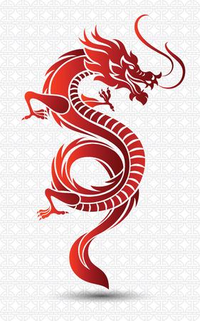 Illustratie van de Traditionele Chinese Draak