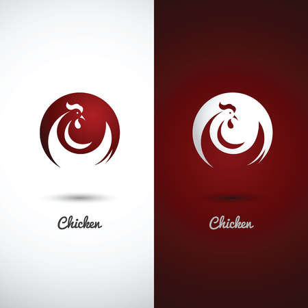 poultry: Rooster and cock design symbol on white background , vector illustration