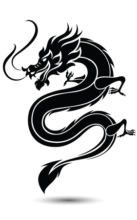 Illustratie van de traditionele Chinese Dragon, illustratie