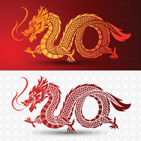 traditional illustration: Illustration of Traditional chinese Dragon ,vector illustration Illustration