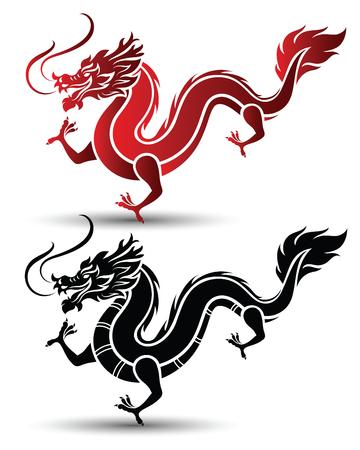 Illustratie van Traditionele Chinese draak, vector illustratie