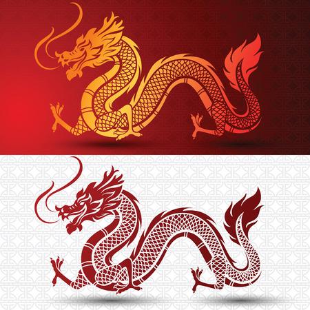 Ilustración de la tradicional chino del dragón, ilustración vectorial Foto de archivo - 61552686