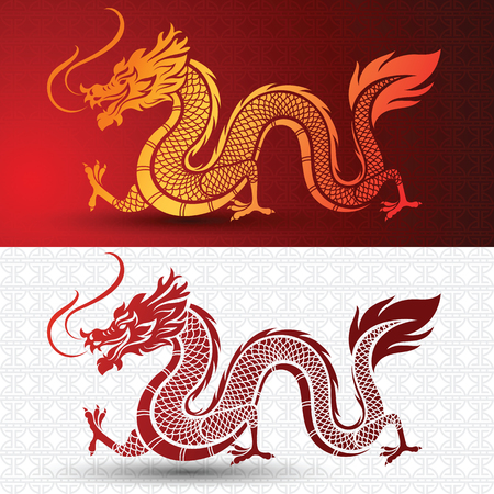 Illustration of Traditional chinese Dragon , illustration