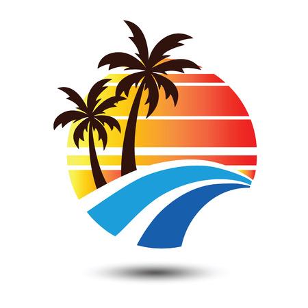 summer holidays: Summer holidays design Labels, Badges,emblem,illustration Illustration