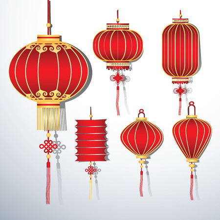 illustration collection: Chinese Lantern Collection set ,vector illustration Illustration