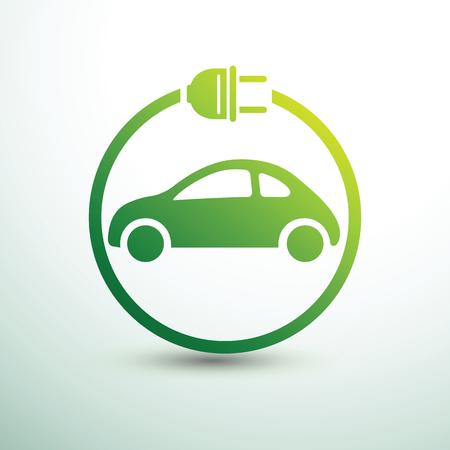 Electric car concept green drive symbol,vector illustration Illustration