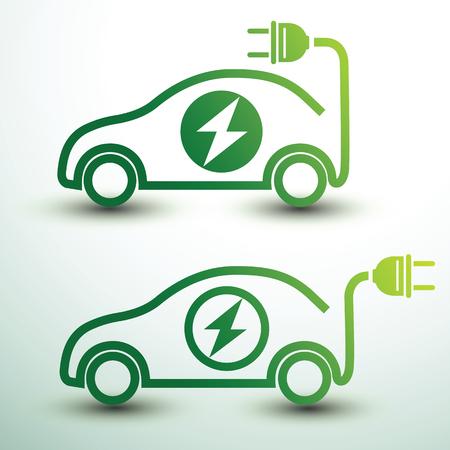 Electric car concept green drive symbol,vector illustration Stock Illustratie