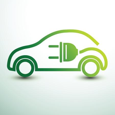 Electric car concept green drive symbol,vector illustration Vettoriali