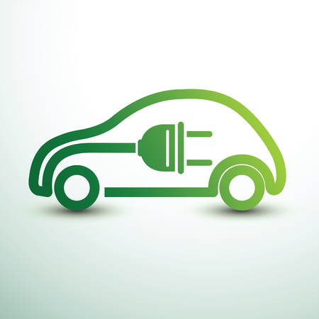 Electric car concept green drive symbol,vector illustration Illusztráció