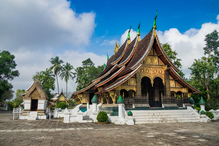 Wat Xieng Thong, Buddhist temple. The most important Buddhist temple in Luang Prabang, Laos. Stock Photo