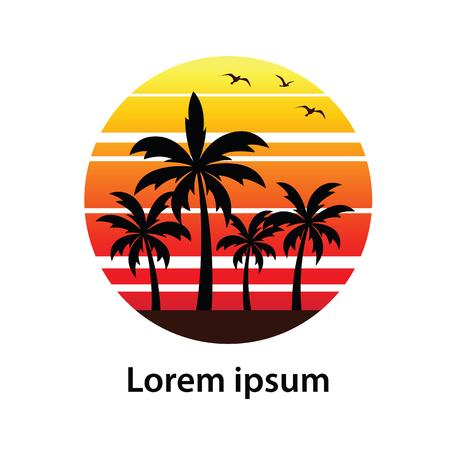 Summer holidays design Labels, Badges,emblem,vector illustration Illustration