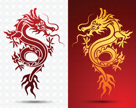Illustration of Traditional chinese Dragon ,vector illustration Illustration