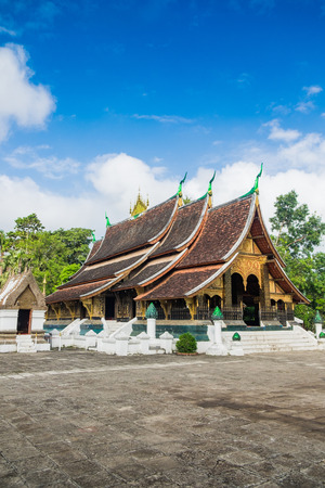 Wat Xieng Thong, Buddhist temple , The most important buddhist temple in Luang Prabang, Laos. This town was listed Stock Photo