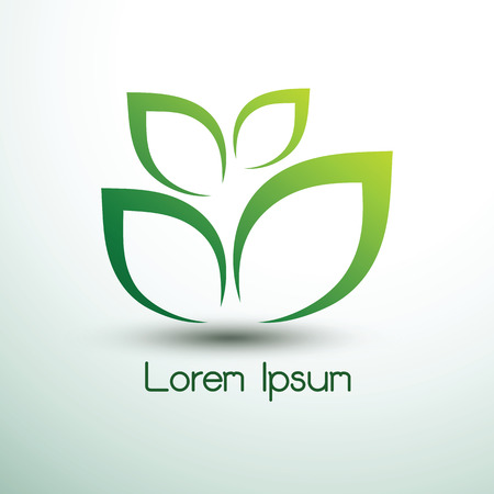Green leaf icon logo eco concept ,vector illustration