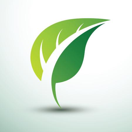 Green leaf icon eco concept ,vector illustration Illustration