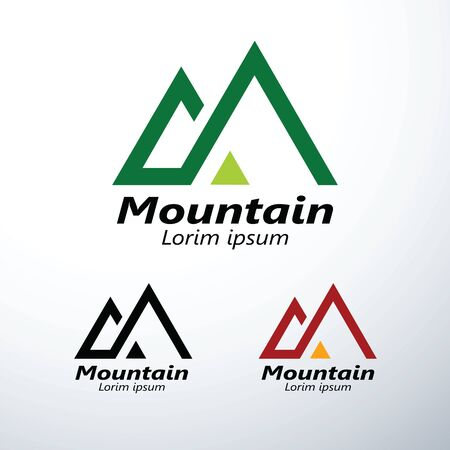 Mountains,peaks and logo design graphics icon symbol ,vector illustration Illusztráció