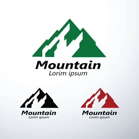 Mountains,peaks and logo design graphics icon symbol ,vector illustration Reklamní fotografie - 126643231