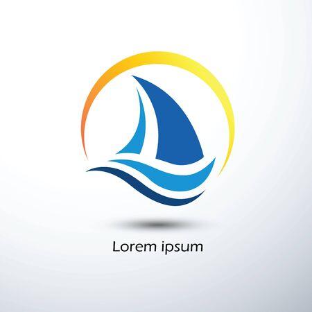 Sailing boat icon symbol vector illustration Stock Illustratie