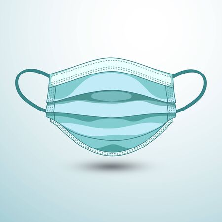 medical masks in isolated ,Icon on White. Protective Mask Virus ,vector illustration