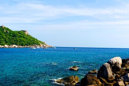 beautiful tropical island at Koh Nang Yuan photo