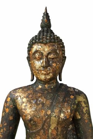 half body: Half body Buddha statue with white background