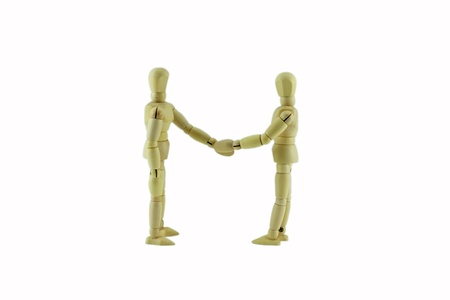 Business partnership handshake  photo
