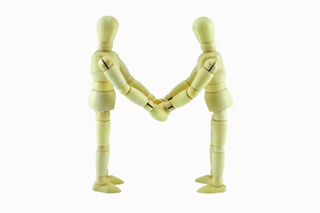manequin: business people partnership agreement handshake