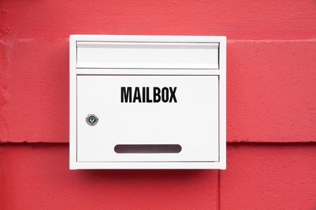 White Mailbox on the red wall